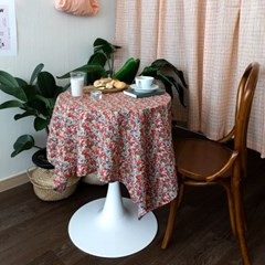 온더빈티지플라워 레드꽃 식탁보 테이블보 2size 테이블러너