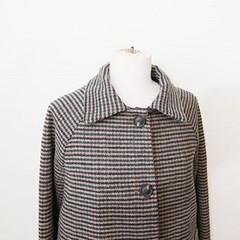 [세일] 런던그린 체크 싱글 코트