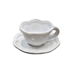 VBC까사 레이스 에스프레소 컵&소서_화이트