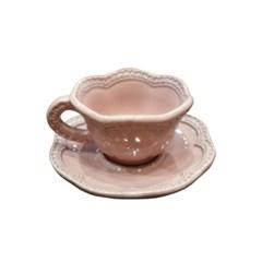 VBC까사 레이스 에스프레소 컵&소서_핑크