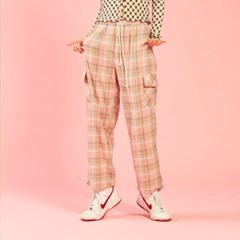 NEONDUST 20SP Check Pants PINK