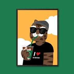 아이스 아메리카노 - 일러스트 포스터 카페 액자