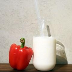 예쁜 우유잔 오목유리컵 빈티지 화병 글라스 유럽 홈카페용품