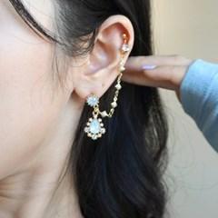 앙뚜오팔 투핀 귀걸이.귀찌
