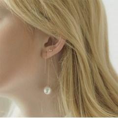 cl777 Seven Silver Pin Earring