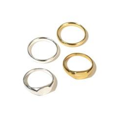 CL089 [2SET] Round bold & thin layered 2set ring
