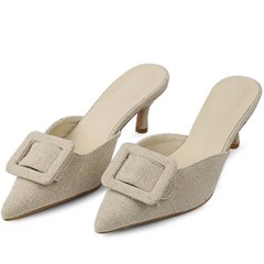 kami et muse Square pendent heel slippers_KM20s001