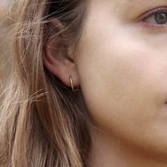 062 Flat Silver Earring