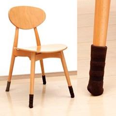 [LEC] 논슬립 니트 의자다리커버 8P(줄무늬브라운) [O-629]