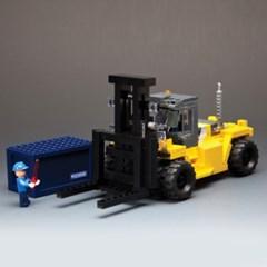 1:40 250D-9 지게차모형 조립블럭 키트 346P (217SM0015)