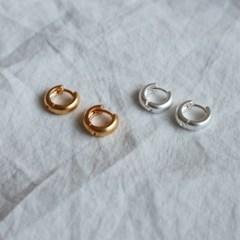 원터치 무광 작은 미니 링귀걸이 (2color)