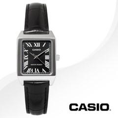 CASIO 카시오 LTP-V007L-1B 여성시계 가죽밴드 손목시계
