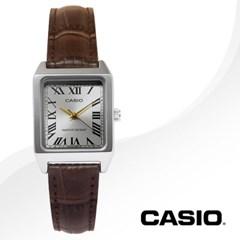 CASIO 카시오 LTP-V007L-9B 여성시계 가죽밴드 손목시계
