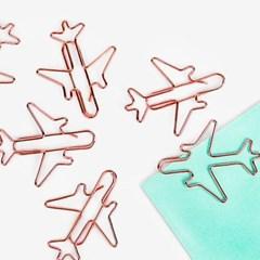 로즈골드 비행기 클립 (5개)