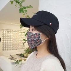 빨아쓰는 귀안아픈 필터교체형 중형 꽃무늬 일회용 일반면마스크