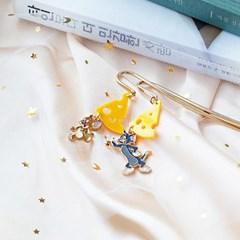 [핸드메이드] 치즈 앤 쥐와 고양이 책갈피_(1262448)