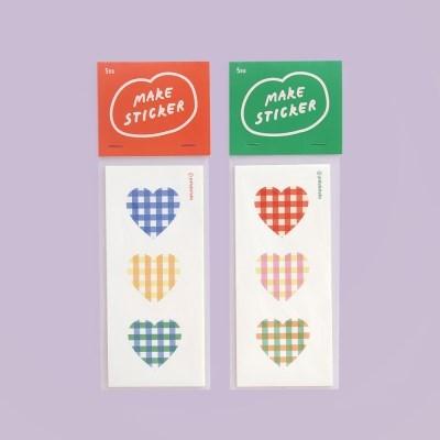 Make Sticker 체크패턴 스티커