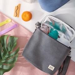 피치워싱 캔버스 보냉백-보냉가방,이유식가방,도시락가방,런치백