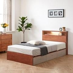 이스테지아 원목 LED 서랍형 침대 프레임 SS_(11797376)