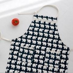 패턴 포인트 앞치마 곰_(1285652)