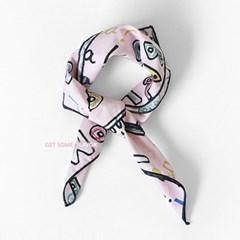 솜) 색연필 아동 스카프