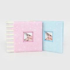 베이비 포토북 포토앨범 성장앨범 아기앨범 25x21cm (4x6/포켓 접착
