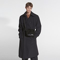 OVERFIT SIGNATURE TRENCH COAT_BLACK