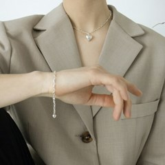 small heart chain bracelet
