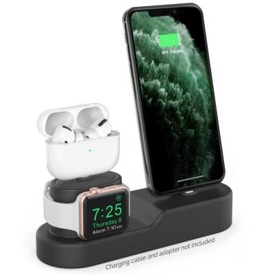 아이노비아 아이폰 에어팟 프로 애플워치 3in1 충전 거치대