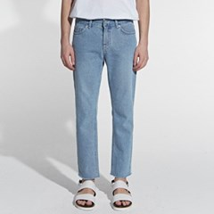 STRAIGHT CUTTING CROP JEANS_LIGHT BLUE