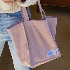 natural cotton bag ( pink )