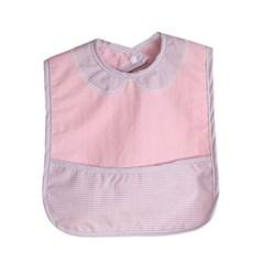 허그미마미 방수 이유식턱받이 핑크