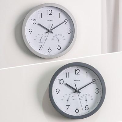 카파 IP248 온도습도표시 무소음 인테리어벽시계 2종 택 1