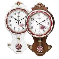 카파 P330 무소음 돔글라스 플라워 앤틱 인테리어 추벽시계