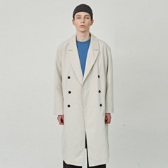 FORMANT LONG DOUBLE COAT_CREAM
