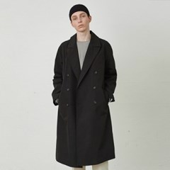 FORMANT LONG DOUBLE COAT_BLACK