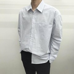 캐주얼 루즈핏 스프라이트 옥스퍼드 면 기본 셔츠남방