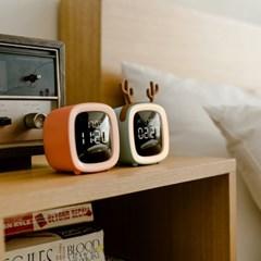 오리엔트 OT1629 큐트 펫 TV 무드등 LED 알람 탁상시계 2종 택1