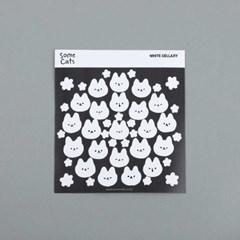 흑백 고양이 색상환 스티커