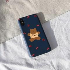 점핑체리곰(네이비) 216 삼성갤럭시 폰케이스&스마트톡