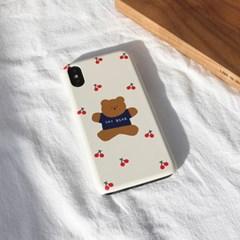점핑체리곰(크림) 215 아이폰/LG 폰케이스&스마트톡