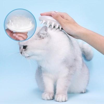 발라당 고양이 실리콘 마사지 브러쉬