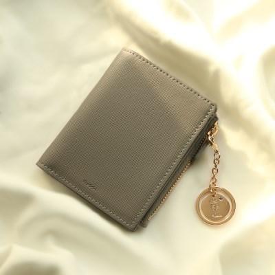 [탄생화키링+반지갑세트]Bless you half wallet(grey)