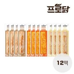 [프로닭] 닭가슴살바 3종 혼합 12팩세트 (3종 각 4팩)_(1623254)
