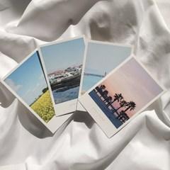 [메리필름]제주도 폴라로이드 여행 엽서 set (4장)
