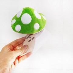 [PetToy]Love Pet Squeaky Mushroom Green바스락삑삑