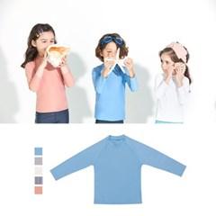 [키썸플레이] 유아 아동 래쉬가드 심플 티셔츠 (5color)_(3808296)