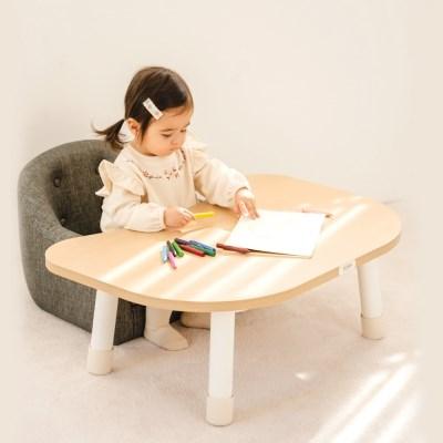 쉐입테이블 1단형 원목 아기책상/유아책상