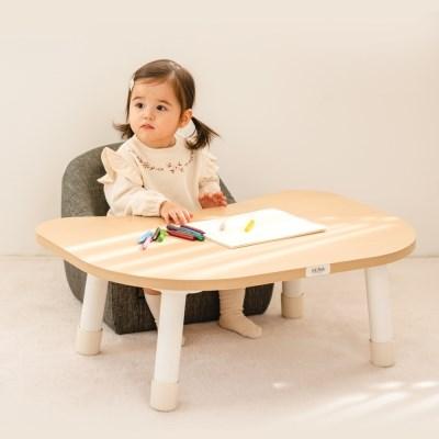 루나스토리] 쉐입테이블 2단 높이조절 아기책상/유아책상