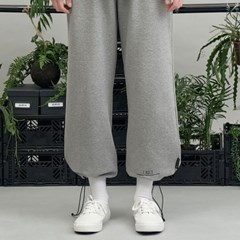 RE braces logo string pants (gray)